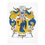 Escudo de la familia del ángel invitaciones personalizada