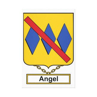 Escudo de la familia del ángel impresión en tela