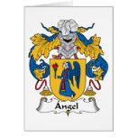 Escudo de la familia del ángel tarjeta