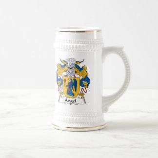 Escudo de la familia del ángel taza