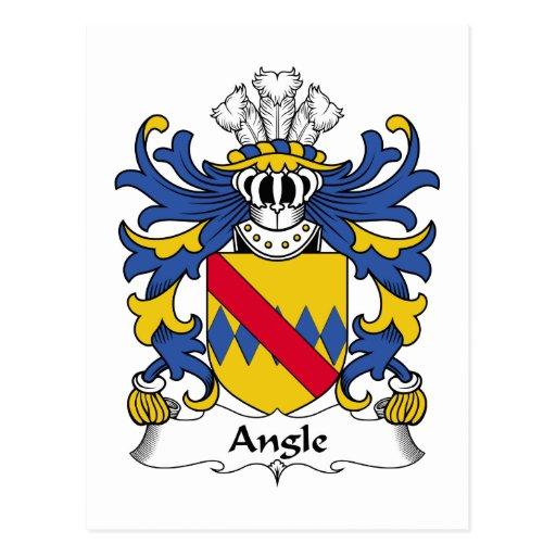 Escudo de la familia del ángulo postales