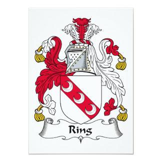 """Escudo de la familia del anillo invitación 5"""" x 7"""""""