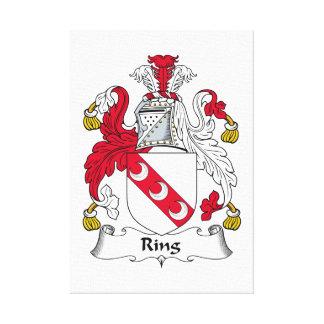 Escudo de la familia del anillo impresiones en lona estiradas