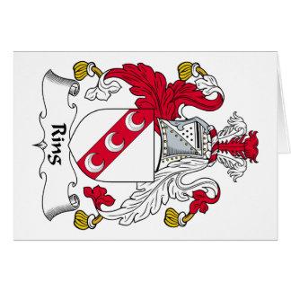 Escudo de la familia del anillo tarjeta de felicitación