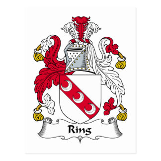 Escudo de la familia del anillo tarjetas postales
