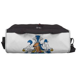 Escudo de la familia del apilador bolsas para portatil