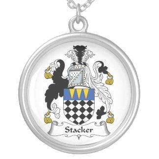 Escudo de la familia del apilador collares personalizados