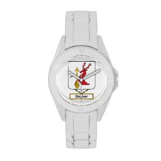 Escudo de la familia del apilador relojes de pulsera