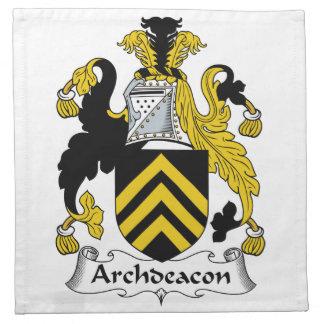 Escudo de la familia del arcediano servilletas de papel