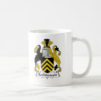 Escudo de la familia del arcediano taza de café