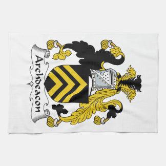 Escudo de la familia del arcediano toalla
