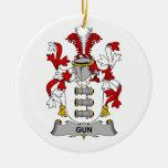Escudo de la familia del arma adornos de navidad
