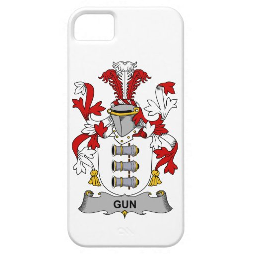 Escudo de la familia del arma iPhone 5 protector