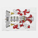 Escudo de la familia del arma toallas de mano