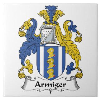Escudo de la familia del Armiger Azulejos