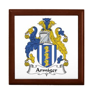 Escudo de la familia del Armiger Caja De Regalo