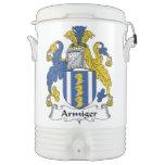 Escudo de la familia del Armiger Vaso Enfriador Igloo