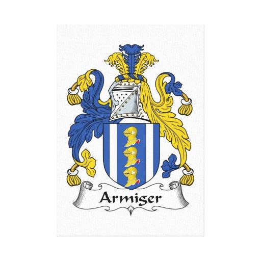 Escudo de la familia del Armiger Lona Estirada Galerías