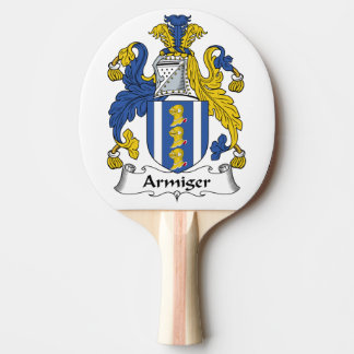 Escudo de la familia del Armiger Pala De Tenis De Mesa