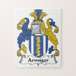 Escudo de la familia del Armiger Puzzles Con Fotos