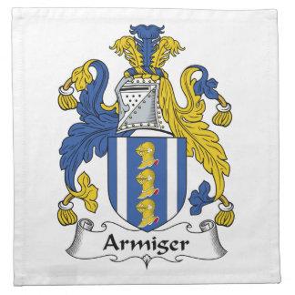 Escudo de la familia del Armiger Servilleta De Papel