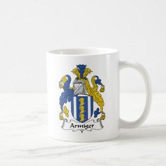 Escudo de la familia del Armiger Tazas De Café