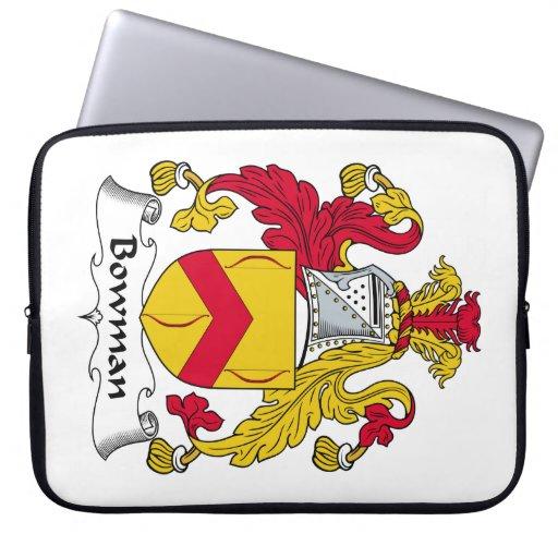 Escudo de la familia del arquero fundas ordendadores