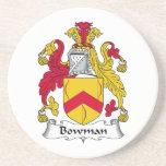 Escudo de la familia del arquero posavasos personalizados