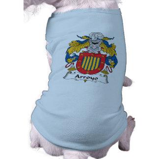 Escudo de la familia del Arroyo Playera Sin Mangas Para Perro