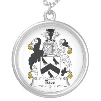 Escudo de la familia del arroz colgante redondo