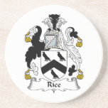 Escudo de la familia del arroz posavasos diseño