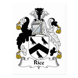Escudo de la familia del arroz postal