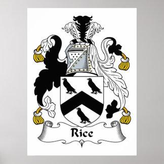 Escudo de la familia del arroz póster