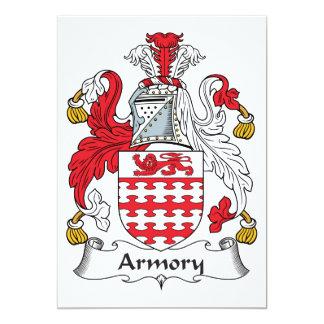Escudo de la familia del arsenal invitación 12,7 x 17,8 cm