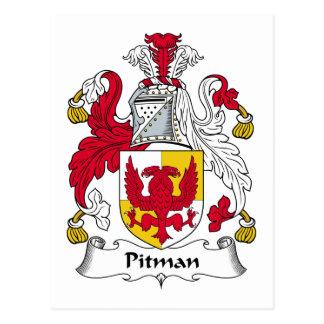 Escudo de la familia del aserrador de foso postales