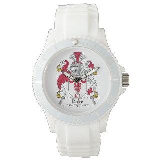 Escudo de la familia del atrevimiento relojes de mano