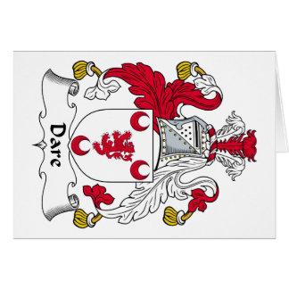 Escudo de la familia del atrevimiento tarjeta de felicitación