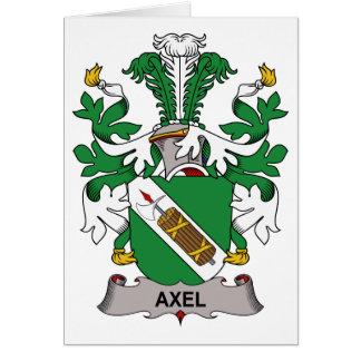 Escudo de la familia del Axel Tarjeta De Felicitación
