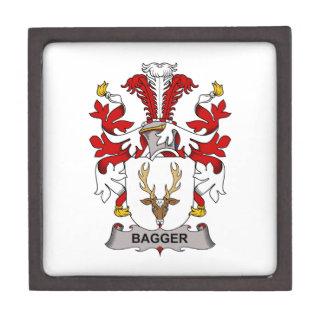 Escudo de la familia del Bagger Cajas De Recuerdo De Calidad