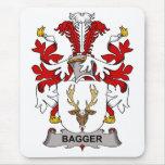 Escudo de la familia del Bagger Tapetes De Ratones