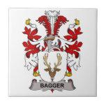 Escudo de la familia del Bagger Tejas Cerámicas