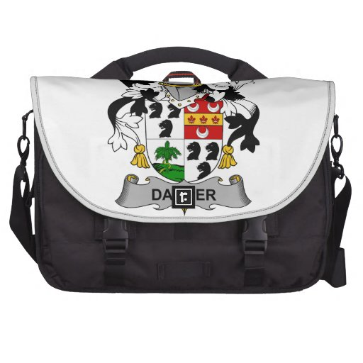 Escudo de la familia del bailarín bolsas de portátil