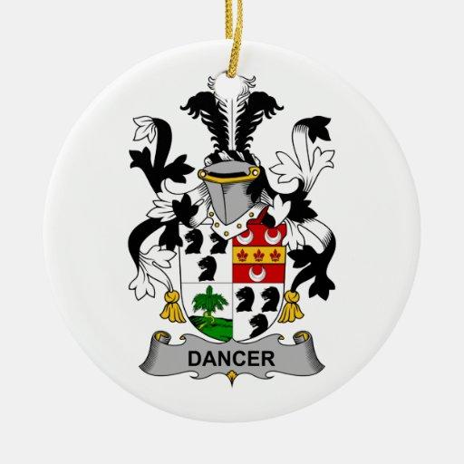 Escudo de la familia del bailarín adornos de navidad
