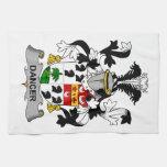 Escudo de la familia del bailarín toallas de cocina