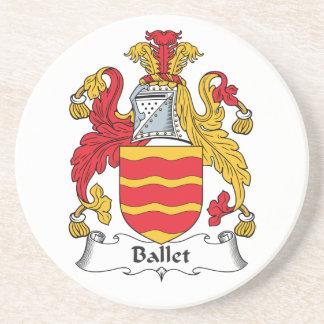 Escudo de la familia del ballet posavasos personalizados