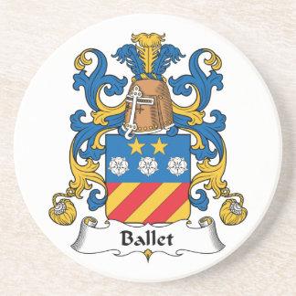 Escudo de la familia del ballet posavasos diseño