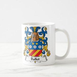 Escudo de la familia del ballet taza de café