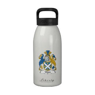 Escudo de la familia del bamboleo botella de beber