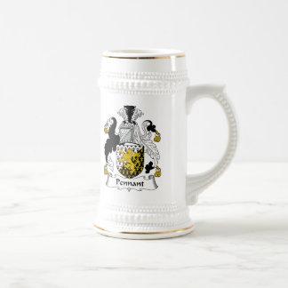 Escudo de la familia del banderín jarra de cerveza