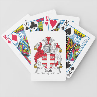 Escudo de la familia del baño baraja de cartas